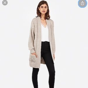 Express Cable Knit Wedge Cardigan